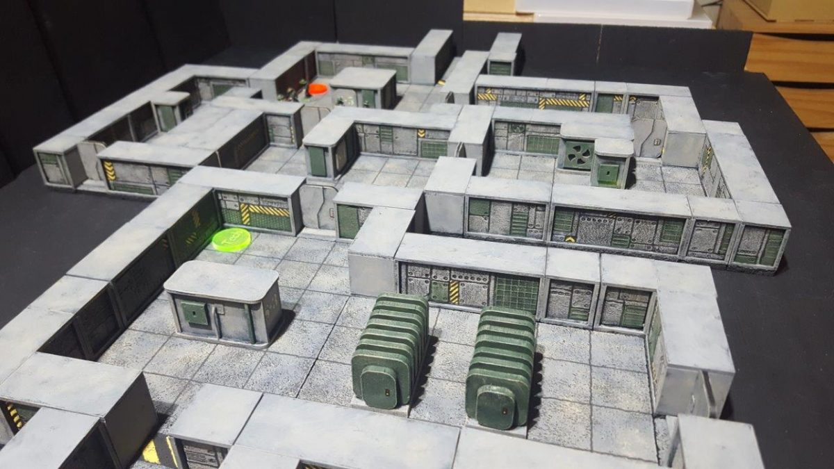 Walls for homebrew 15mm Sci-fi bug hunt game